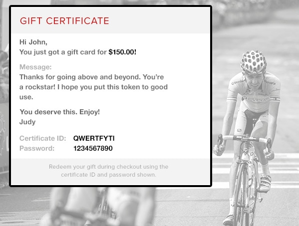 Competitive Cyclist GiftCertificate  Competitive Cyclist
