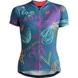 Womens Road Bike Jersey Giordana Arts Short Sleeve